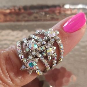 ❇️2FOR$15❇️Fashion Silver Rhinestone Ring